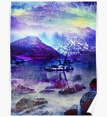Abstract Winter Lake Poster