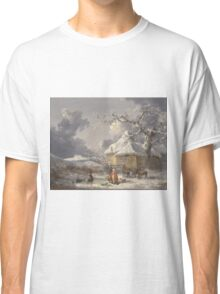 George Morland - Winter Landscape With Figures  1785 Classic T-Shirt