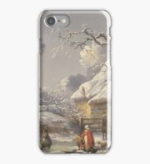 George Morland - Winter Landscape With Figures  1785 iPhone Case/Skin