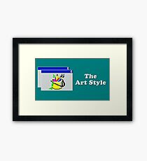 Title Card - The Art Style Framed Print