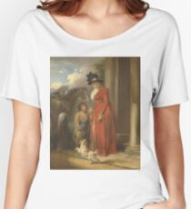 George Morland - The Squires Door  1790 Women's Relaxed Fit T-Shirt
