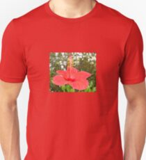 Tropical Red Hibiscus Rose Mallow Unisex T-Shirt