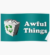 Title Card - Awful Things Poster