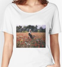 George Hitchcock - The Poppy Field Women's Relaxed Fit T-Shirt