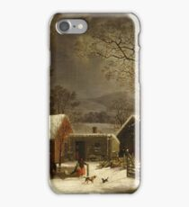 George Henry Durrie - Winter Scene In New Haven, Connecticut iPhone Case/Skin