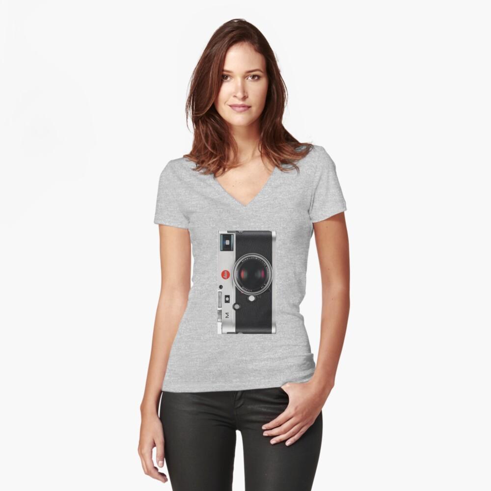 Leica Vintage Style Handyhülle Tailliertes T-Shirt mit V-Ausschnitt