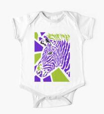 Zebra Kurzärmeliger Einteiler