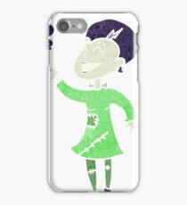 retro cartoon undead monster lady cleaning iPhone Case/Skin