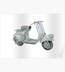 1949 Piaggio Vespa scooter Poster