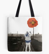 The Girl and the Poppy Tote Bag