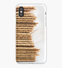 Close-up of stack of crispy wheat flat bread iPhone Case