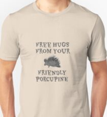 Free Hugs Porcupine Funny T-Shirt