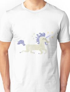 retro cartoon unicorn Unisex T-Shirt
