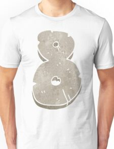 retro cartoon stone number eight Unisex T-Shirt