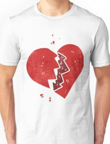 retro cartoon broken heart Unisex T-Shirt