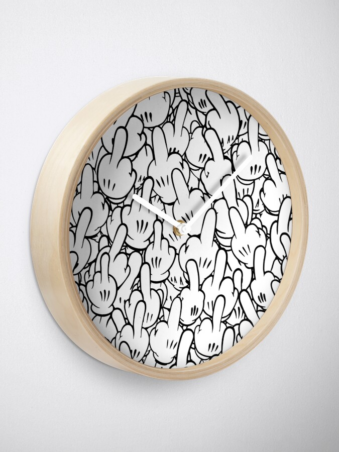 Alternate view of Middle fingers of Mickey Mouse Clock
