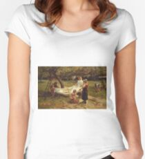 Frederick Morgan - The Apple Gatherers Women's Fitted Scoop T-Shirt