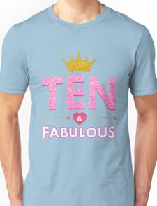 Cute 10th Birthday For Girls Princess Crown Ten Gift  Unisex T-Shirt