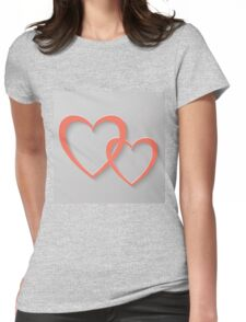 heart background Womens Fitted T-Shirt