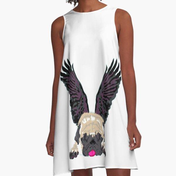 sleeping Angel A-Linien Kleid