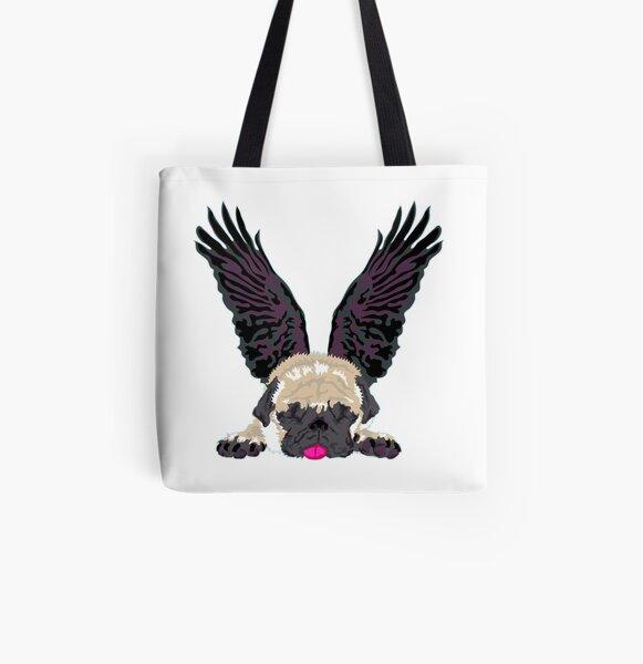 sleeping Angel Allover-Print Tote Bag