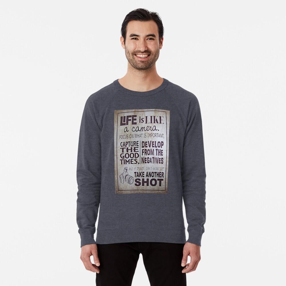 """""""Das Leben ist wie eine Kamera"""" Leichter Pullover"""
