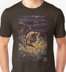 Border Collie - Mesmerizing Eye - Herding Dog - Stylized Painting Unisex T-Shirt