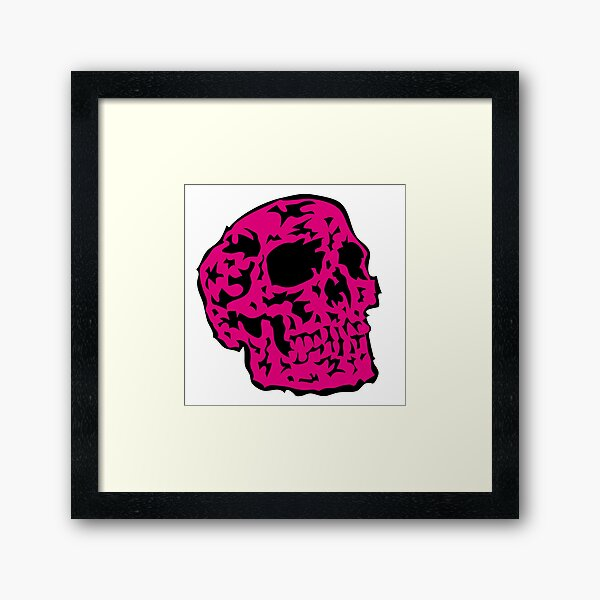 pink Skull Gerahmter Kunstdruck