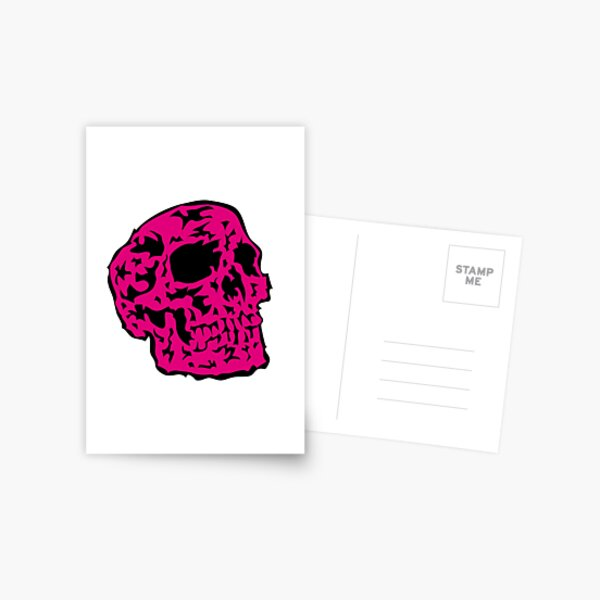 pink Skull Postkarte