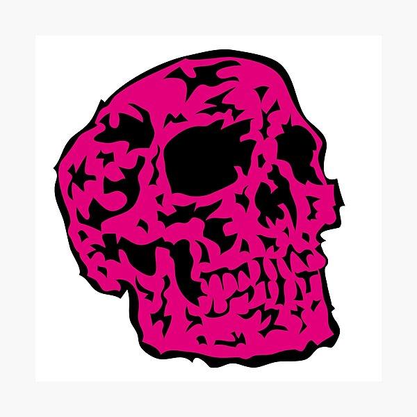 pink Skull Fotodruck