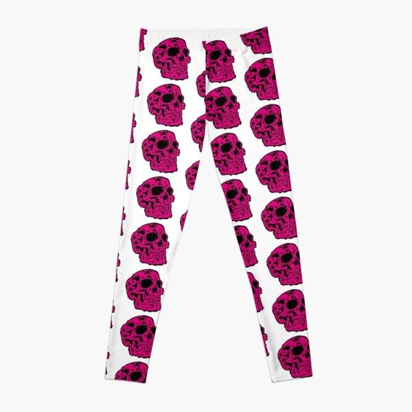 pink Skull Leggings