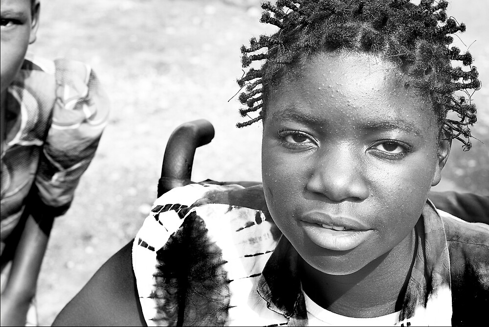 'A beautiful young woman with polio' Democratic Republic of Congo by Melinda Kerr