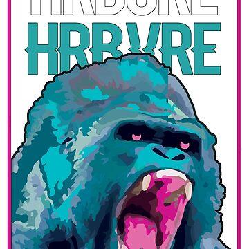 HARDCORE HERBIVORE APE by troymaboy