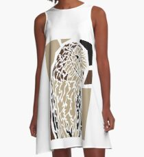 Owl A-Linien Kleid