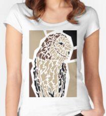 Owl Tailliertes Rundhals-Shirt