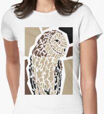 Owl Tailliertes T-Shirt für Frauen