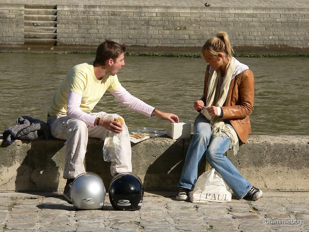 Lunchtime Love in Paris by brummieboy