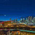 Calgary at twilight by Josef Pittner