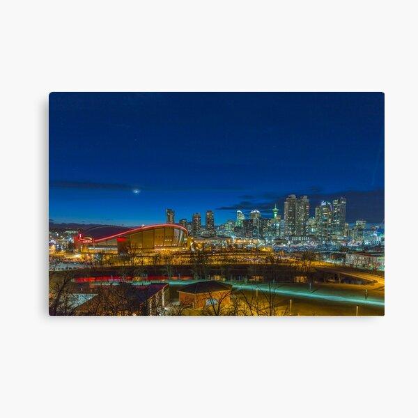 Calgary at twilight Canvas Print
