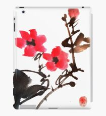 Floral Chinese painting design iPad Case/Skin