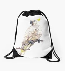 Sulphur Crested Cockatoo Drawstring Bag