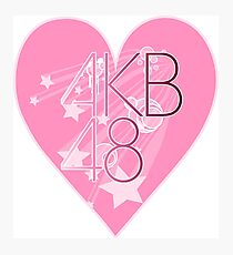 AKB48 heart Photographic Print