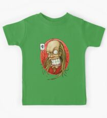 Hevy Devy Strapping Young Lad: Red Oval Kids Tee