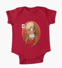 Hevy Devy Strapping Young Lad: Red Oval One Piece - Short Sleeve