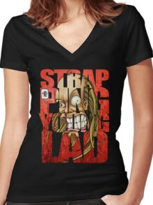 Devin Townsend Strapping Young Lad Red Letters 2 Women's Fitted V-Neck T-Shirt