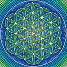 Flower of Life- Ocean Colours by Elspeth McLean