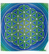 Flower of Life- Ocean Colours Poster