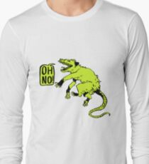 Oh No! Lime Opossum Long Sleeve T-Shirt