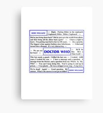 Quotes from Doctor Who - Rory Williams Metal Print