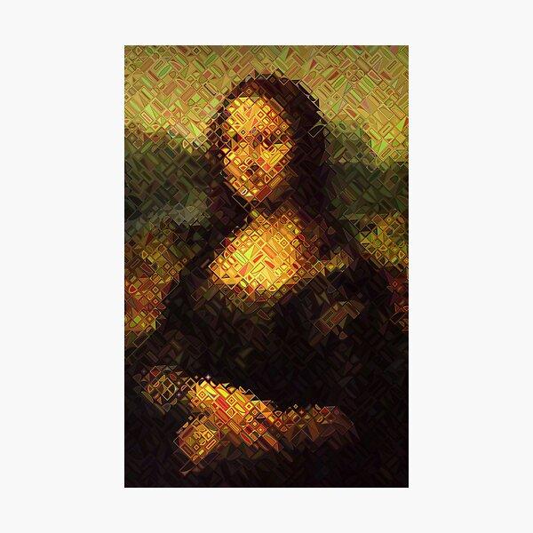 After Chuck Close - Portrait - Mona Lisa Photographic Print